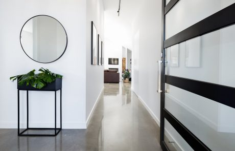polished concrete in home